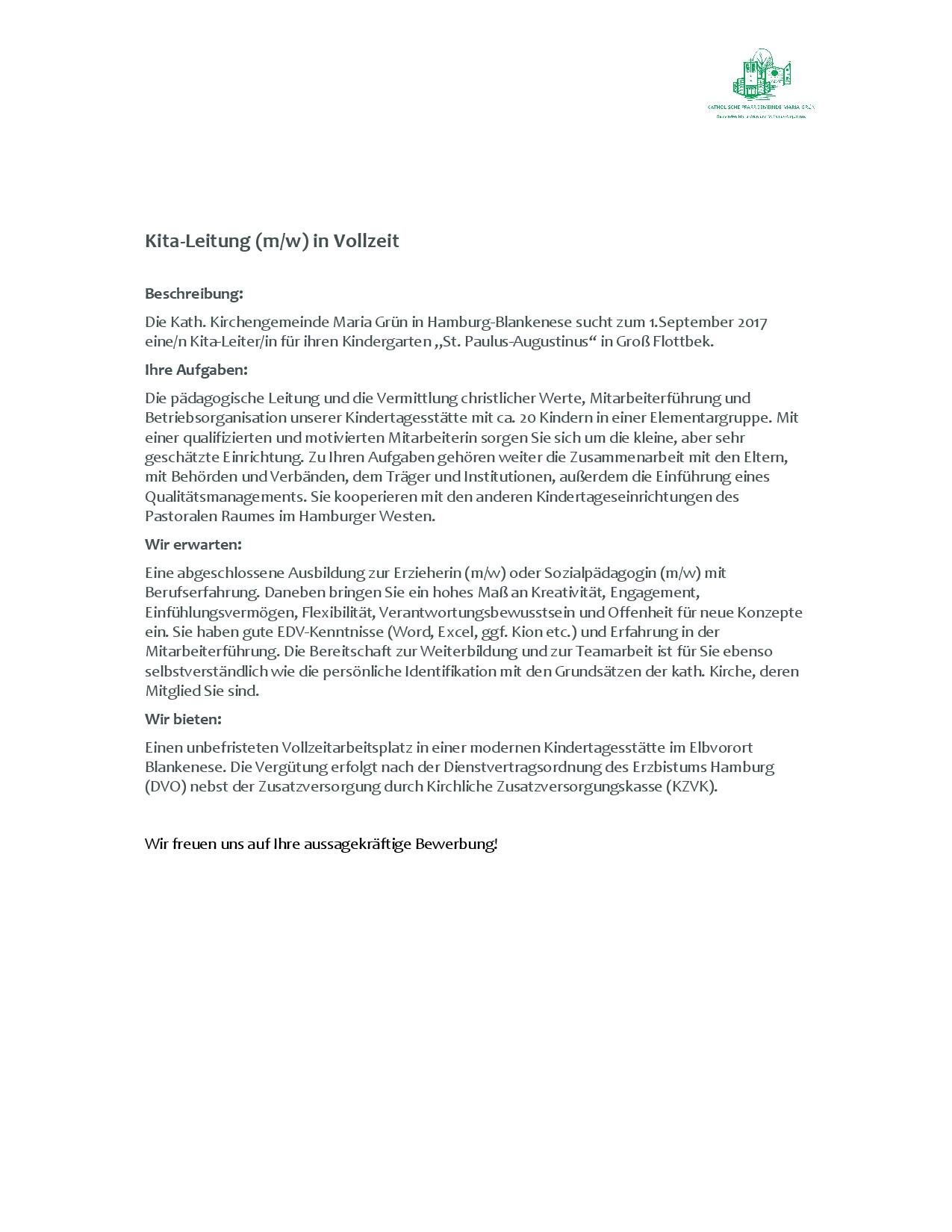 Bewerbung Erzieherin Kindergarten Bewerbungsschreiben